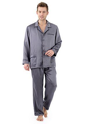 Conjunto de pijama de seda contra lux - S070   pijamas   de hombre   de hombre…