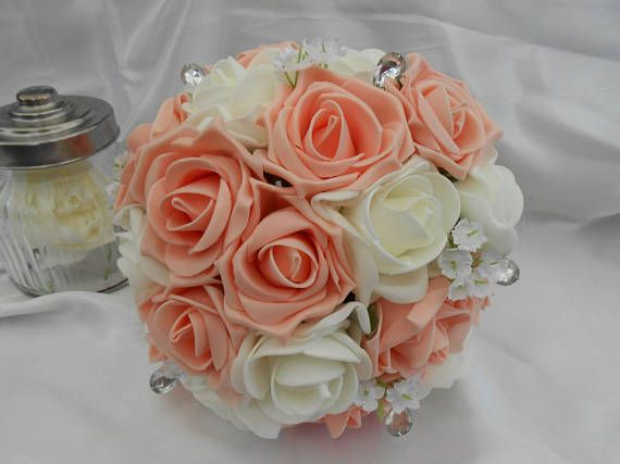 wedding bouquet brides bouquet bridal bouquet soft touch roses