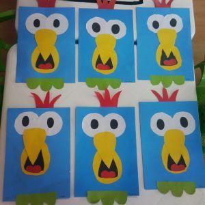 Parrot craft idea for kids   Crafts and Worksheets for Preschool,Toddler and Kindergarten