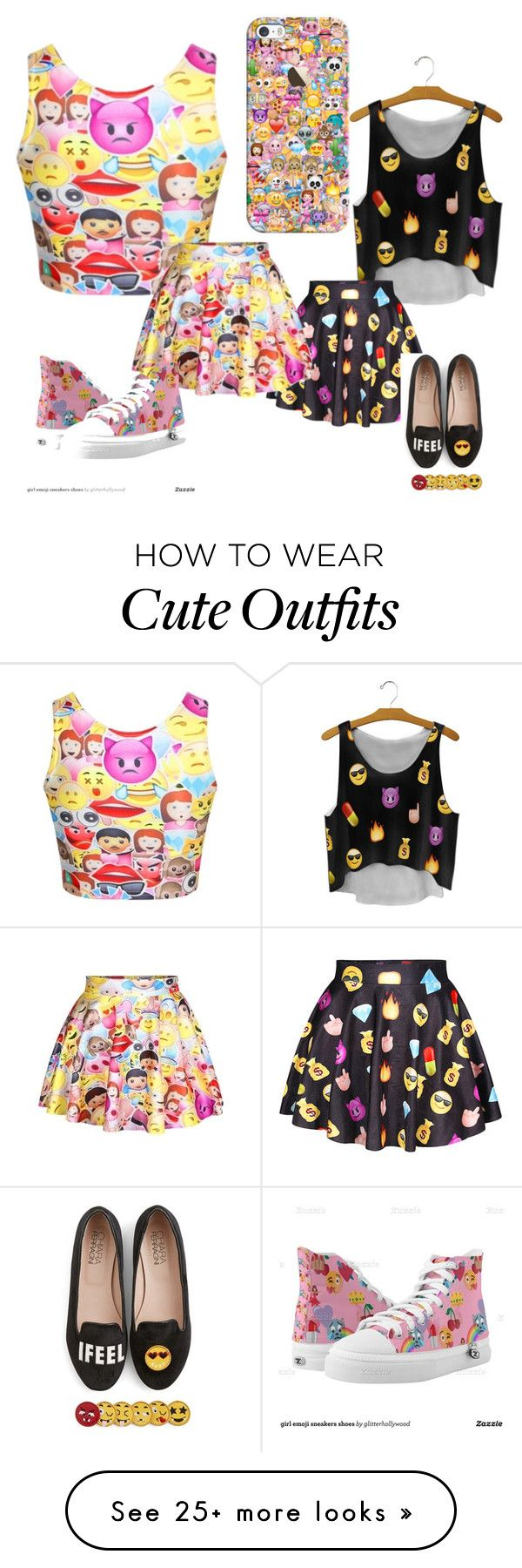 """Emoji Outfit"" by cutesheepcat on Polyvore featuring Chiara Ferragni, Casetify and emoji"