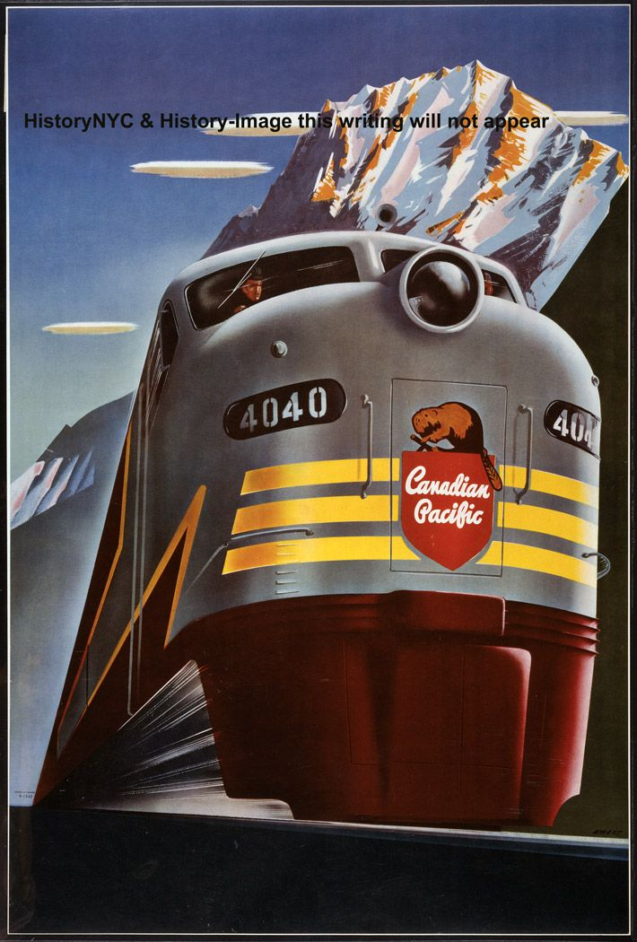 Canadian Pacific Railroad Travel Poster