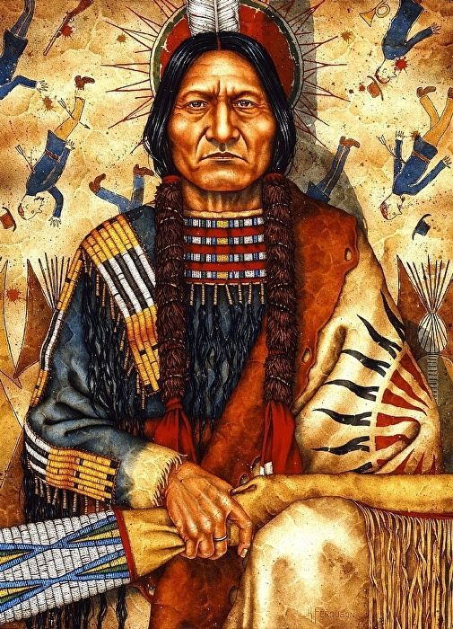painter kenneth ferguson tatanka iyotake sitting bull native americans and native. Black Bedroom Furniture Sets. Home Design Ideas