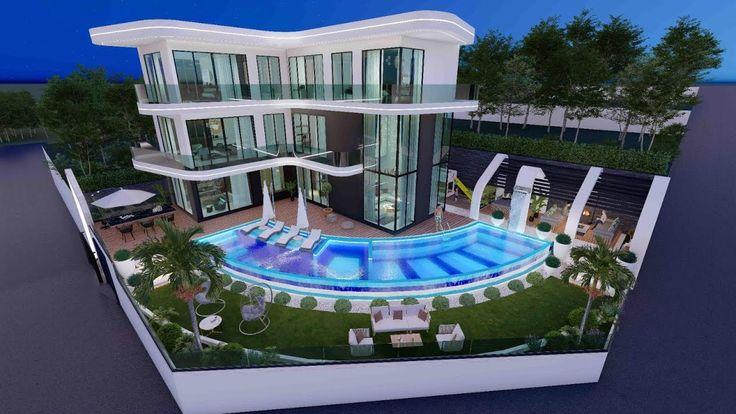Villa in Alanya - Immobilien in der Türkei, 2021 | Villa, Alanya, Resimler