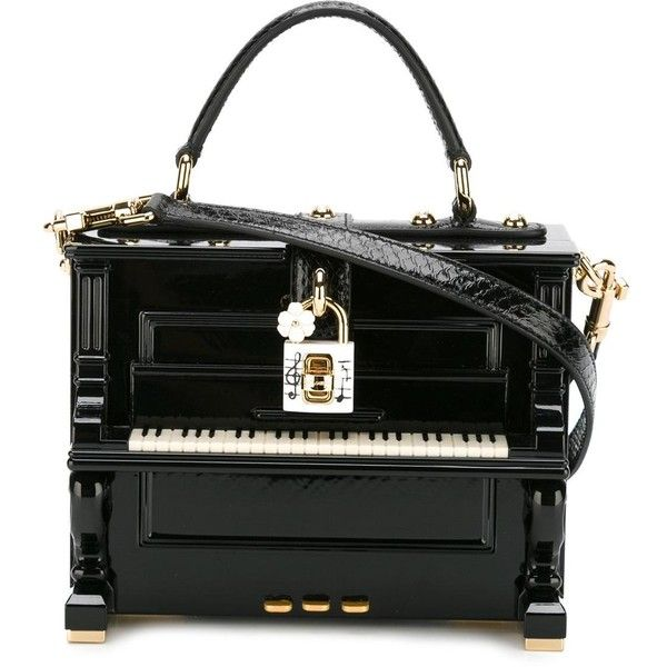 Dolce & Gabbana - Dolce box piano tote - women - Leather/wood - One... (£5,850) ❤ liked on Polyvore featuring bags, handbags, tote bags, borse, black, dolce gabbana handbags, dolce gabbana tote, round handbag, top handle handbags and tote handbags