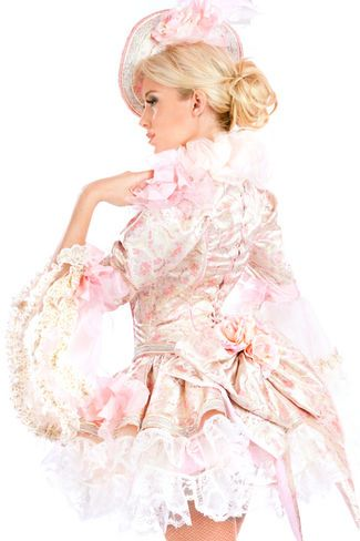Corset back. Bows with flowers! Super beaitiful just need a long full skirt