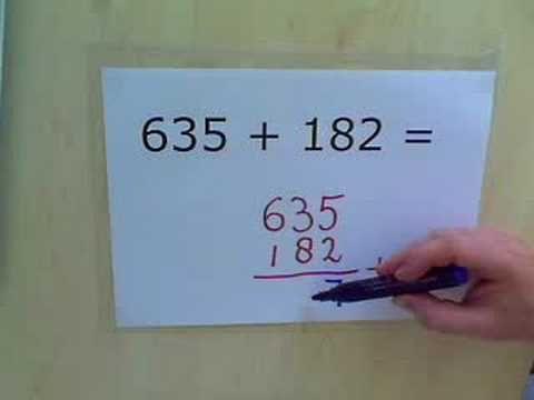 Instructiefilmpje - cijferend optellen onder elkaar