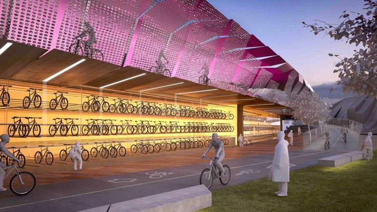 The 'veloway' will sit above Footscray Road as part of the West Gate Tunnel Project.