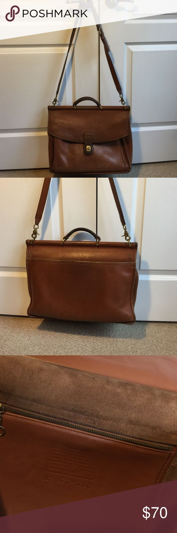 Coach Vintage briefcase As is Coach briefcase worn used and many more miles to go with this classic 1970s #A7C-5266. Needs TLC from scuffs and dirt. Coach Bags