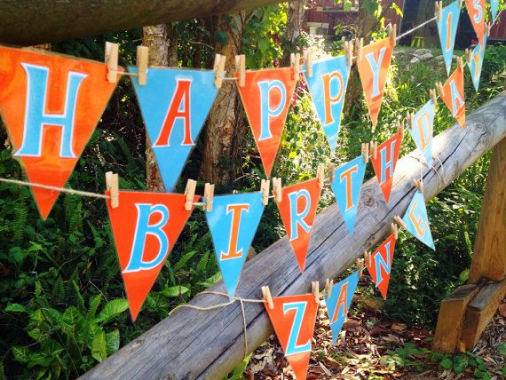 Giggle and Hoot themed birthday bunting customised by GOTMEPEGGED, $25.00