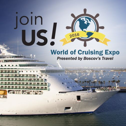 Thinking of cruising in 2016? Join us for the World of Cruising Expos,  coming