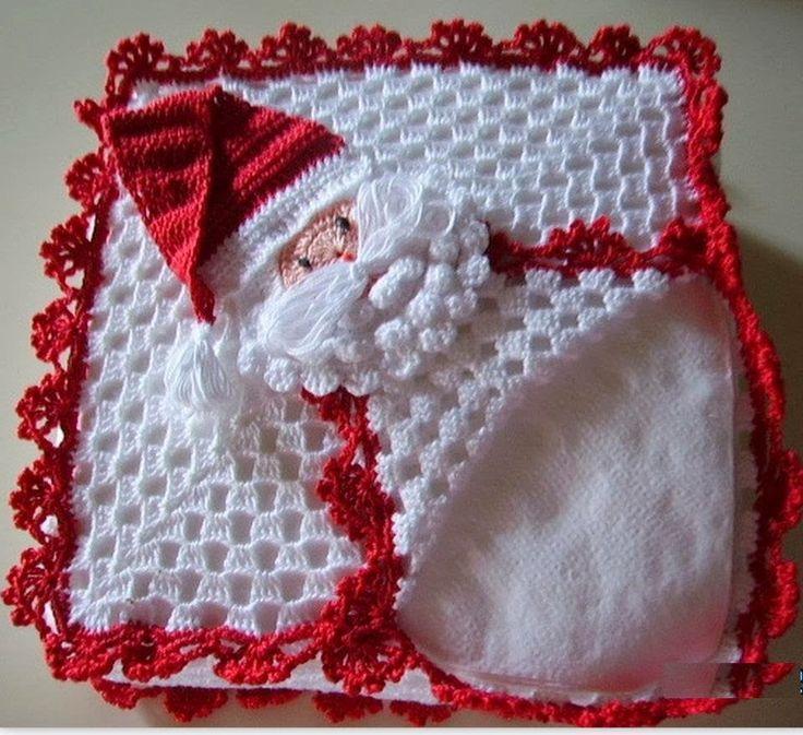 El mundo del crochet.: Servilletero Navideño