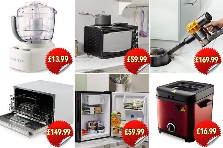Aldi launches space-saving kitchen range including a mini fridge, oven and even a table-top dishwasher
