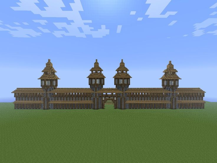 minecraft town wall - Google Search