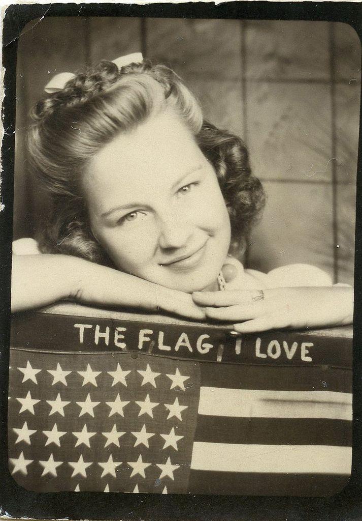 Patriotic Patty on Veterans Day. #vintage #photobooth #1950s