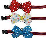 Ylen 3 Piezas Bowknot Corbata para Mascotas Pajarita de Perro Ajustable Collar de Animal Doméstico Decoración