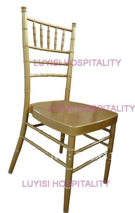 Quality Gold aluminum chiavari wedding chair