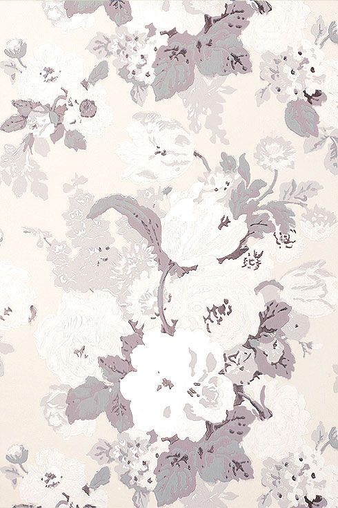 Anna French Wallpaper and Fabric - Wild Flora - Bouquet - Chalk…