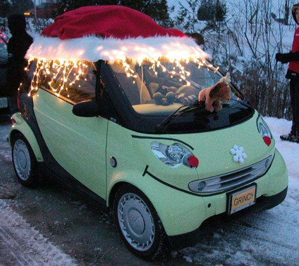 Port Perry Parade - smart car decorated for the parade...LOVE IT!!!!!