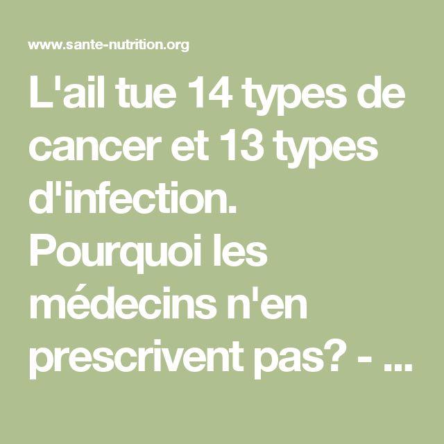 L'ail tue 14 types de cancer et 13 types d'infection. Pourquoi les médecins n'en prescrivent pas? - Santé Nutrition