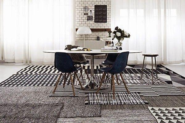 FARE CASA: piccole e grandi modifiche prima di arredare un'abitazione - tappeti-sovrapposti