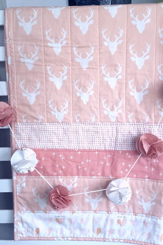 Hey, I found this really awesome Etsy listing at https://www.etsy.com/listing/452522994/pinkpeach-cot-quilt