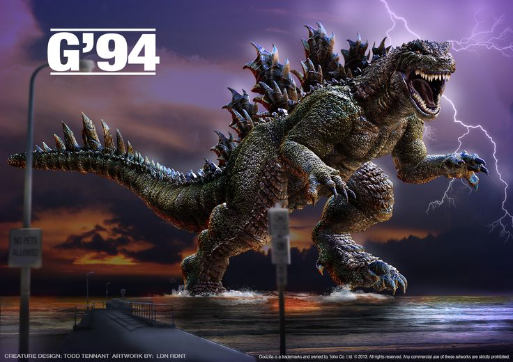 Godzilla 1994 Fan Art Godzilla Good Old Movies Old Movies