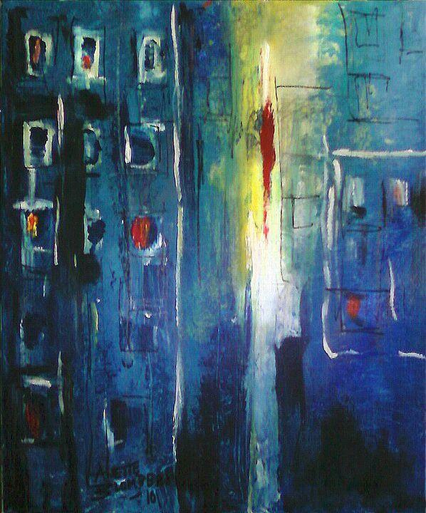 Boningar måleri Anette Blomberg
