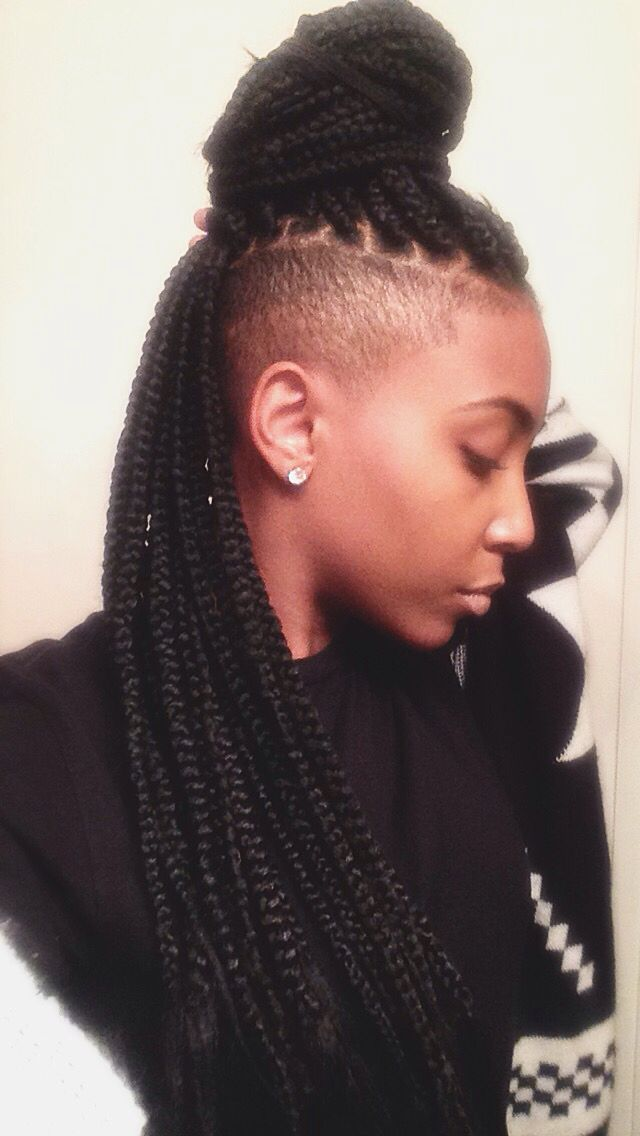 Awesome 1000 Ideas About Braids With Shaved Sides On Pinterest Box Hairstyles For Women Draintrainus