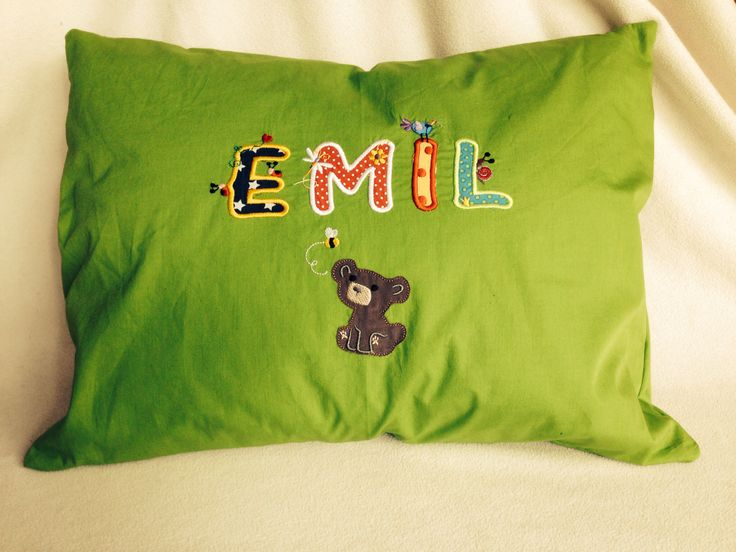 Personalized cushion from jillyfant.com Personalisiertes Kissen von jillyfant.com