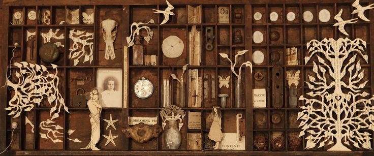 sheri piccone…..bookbox  assemblage....sold