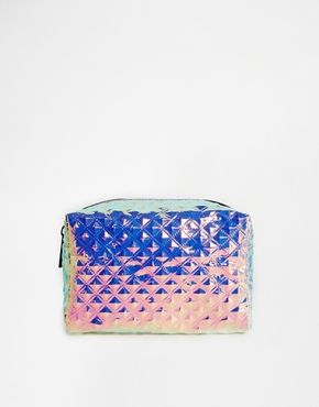 ASOS Textured Hologram Makeup Bag - $18.95