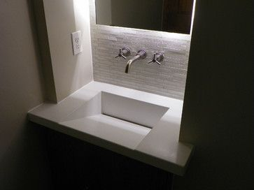 Image Gallery For Website Like the sloped sink Modern Powder