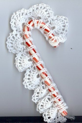 crochet candy cane cover: free pattern