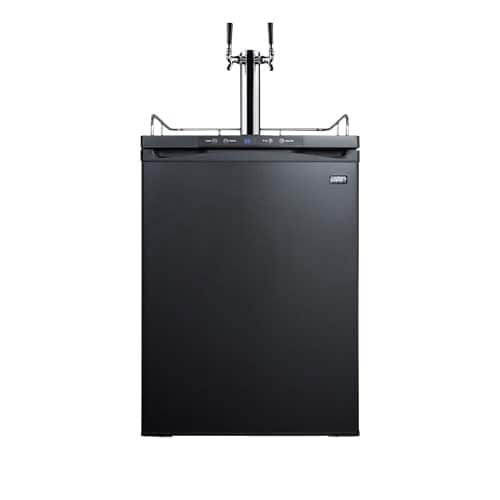 Summit SBC635MBITWIN Commercial Built-In Dual Faucet Full Size Beer Kegerator Do, Black