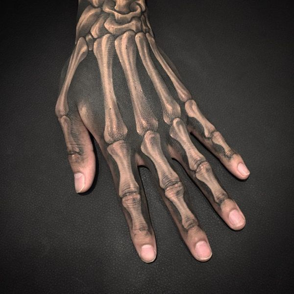 фото тату кости руки нашей галерее