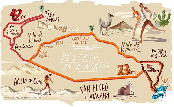 Atacama Desert On A Map