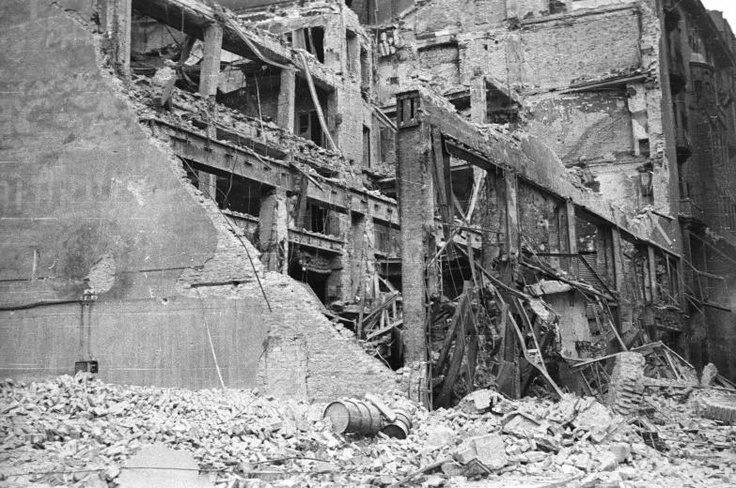Budapest in ruins# Hungarian Revolution 1956