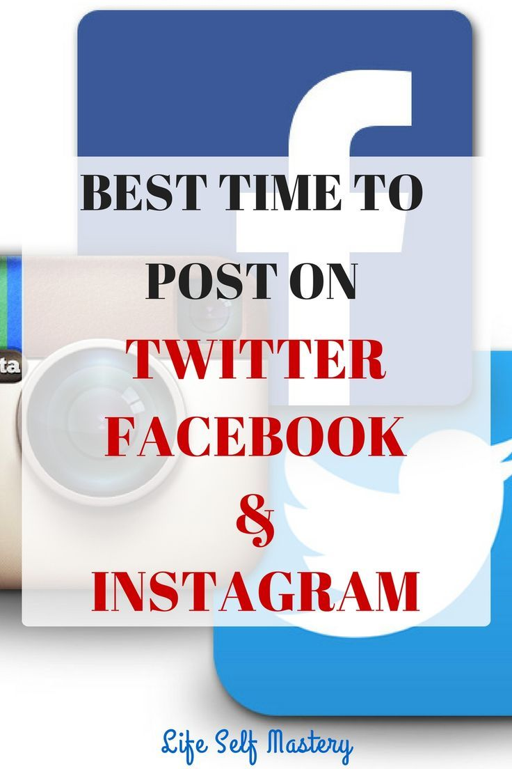 Best time to post on Twitter, Facebook and Instagram. Click through to read more!