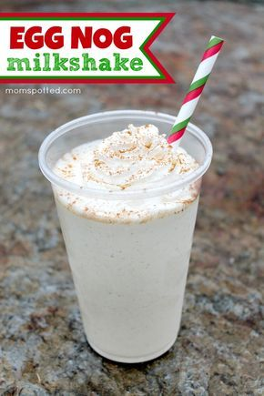 Easy Eggnog Milkshake Recipe Recipe Found on momspotted.com