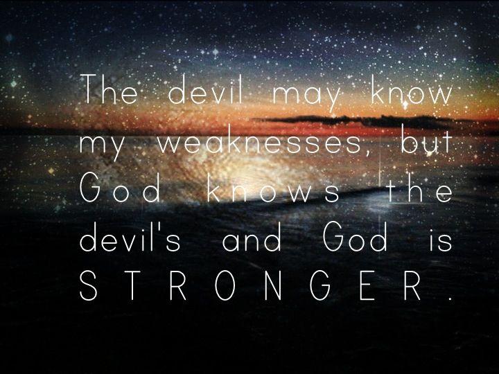 God is stronger!