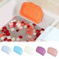 Product Description Product name: bathtub pillow Size: 21*31cm Material: PVC, smell less Color:  Blu