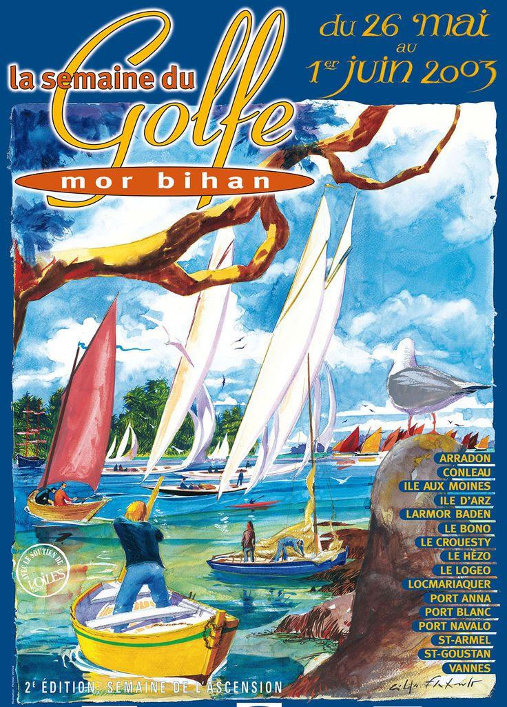 Illustration de la Semaine du Golfe du #Morbihan 2003.