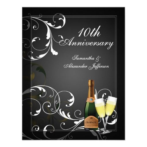 10 Year Wedding Anniversary Invitations: 687 Best 10th Anniversary Party Invitations Images On