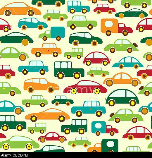Cars. Seamless wallpaper or background. © Maksim Krasnov / Alamy