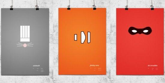 DESIGN FETISH: Minimalistic Pixar Poster SeriesMovie Posters, Minimalist Posters, Posters Series, Kids Room, Pixarmovi Posters, Pixar Posters, Cinematic Movie, Pixar Movie, Design Posters