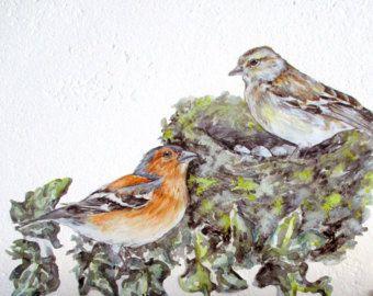 Aves nidifican, nidifican de arte de la pared, decoración de la cocina, nidifican de etiqueta de la pared, bendigan nuestro nido, etiquetas de la pared de pájaro, regalo del día de la madre, pájaro decoración, regalo de nido de pájaro