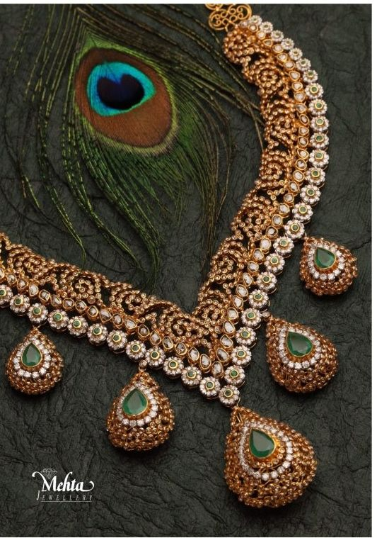 Indian #Jewellery and Clothing: Mehtha jewellers #necklace