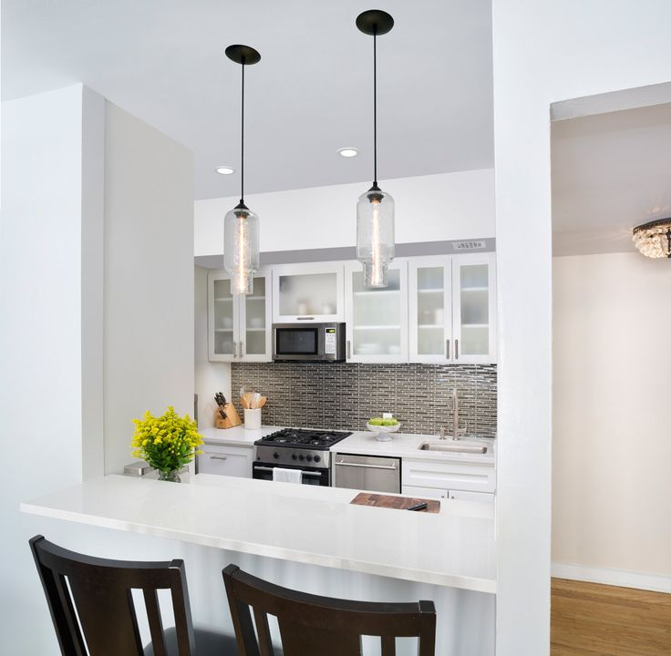 Modern Lighting in the Irving Place Kitchen & 65 best Niche Modern at Home images on Pinterest   Kitchen ... azcodes.com