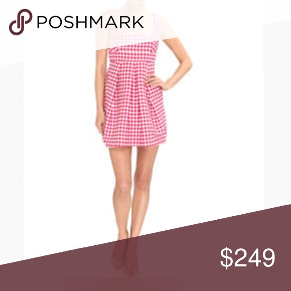 Red Valentino • Abiti Donna Gingham Dress Magenta pink and white gingham style. Fully lined, high back, full zip. Amazing seaming detail throughout. Bottom has two skirts to create a full flowy style. Definitely a one of a kind dress! Made of polyester and elastane. Made in Italy. A euro size 40 or US 2 RED Valentino Dresses