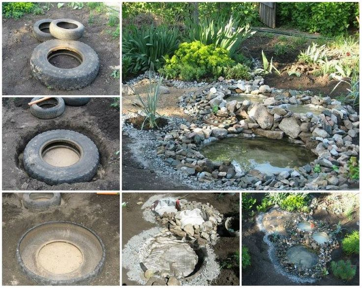 tire pond diy is perfect for your yard